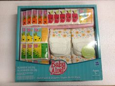 Baby Alive Doll Food and Diapers, Super Refill Pack Little Girl Toys, Toys For Girls, Kids Toys, Baby Alive Doll Clothes, Baby Alive Dolls, Real Baby Dolls, Baby Doll Toys, Baby Doll Diaper Bag, Interactive Baby Dolls