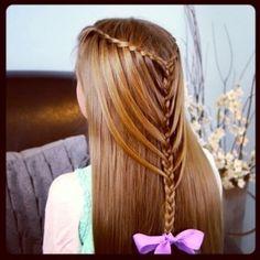 Waterfall Twists into Mermaid Braid | Cute Hairstyles