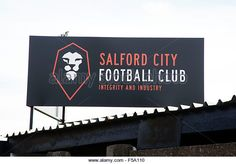 Salford City Football club in Manchester members of the Northern Premier League Premier Division in England - Stock Image