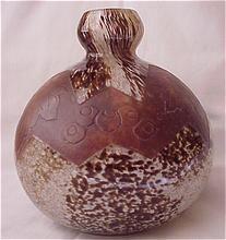 Legras Art Deco Cameo Glass Vase