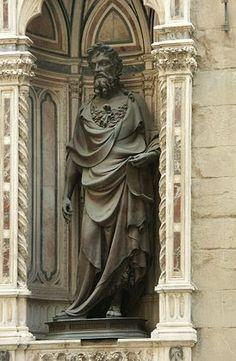 Lorenzo Ghiberti, 1414, Saint-Jean Baptiste, Église d'Orsanmichele, Florence