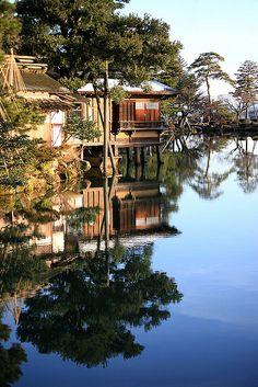 Kenroku-en garden, Kanazawa, Japan    Planning a visit?  #vacation #holiday #carrental #carhire  www.car-booker.com