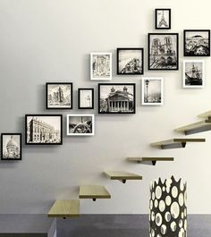 Photo Frame Luxury Staircase Photo Wall Creative Picture Frame For Home Wood Photo Frame Porta Retrato Home Staircase Decoartion Photo Frame Layout, Photo Frame Design, Wall Design, Photo Frame Ideas, Picture Frame, Photo Frame Decoration, Layout Design, Picture Wall Staircase, Staircase Wall Decor