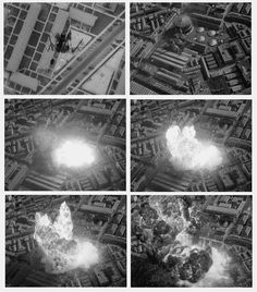 """More big pyrotechnics for the 1944 movie """"Thirty Seconds over Tokyo"""". Blog: http://nzpetesmatteshot.blogspot.com/2011_03_01_archive.html"""