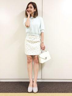 紗栄子さんのニット/セーター「dazzlin アンゴラハーフスリーブトップス」を使ったコーディネート
