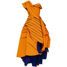 Maticevski     Validation Gown (€4.165) ❤ liked on Polyvore featuring dresses, gowns, gown, orange, orange evening gown, orange evening dresses, orange dress, maticevski and lined dress