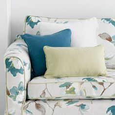 Warwick Fabrics, PRISTINE Collection / colour Spring / shown here with our 100% cotton plain, 'Loft'.