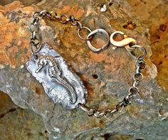 Seahorse Bracelet fine silver sterling chain by codysanantonio, $115.00