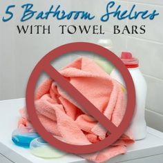 Bathroom shelf with towel bar - take a look at our 5 favorites! #towelbar #favorites