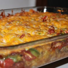 Easy Mexican Potato Casserole Recipe from Grandmothers Kitchen. Mexican Dishes, Mexican Food Recipes, Beef Recipes, Cooking Recipes, Mexican Meals, Lunch Recipes, Dinner Recipes, Potatoe Casserole Recipes, Mexican Casserole