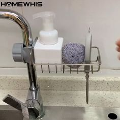 Home Decor Hooks, Diy Crafts For Home Decor, Home Decor Kitchen, Interior Design Kitchen, Kitchen Sink Organization, Sink Organizer, Kitchen Soap Dispenser, Soap Dispensers, Diy Toilet Paper Holder