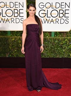 Golden Globes 2015 Red Carpet Arrivals | Katie Holmes ('The Giver')