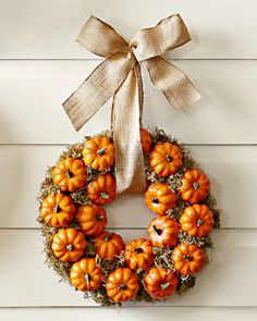 SEASONAL – AUTUMN – a country autumn includes lots of leaves, pine cones, and pumpinks to gather, many of them can be used for colorful decor and craft projects, such as a pumpkin patch wreath to hang on your entry door.