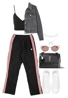 """""""#"""" by bruna-linda-12 ❤ liked on Polyvore featuring Charlotte Russe, Miss Selfridge, Anine Bing, Yves Saint Laurent, Givenchy and Oliver Peoples"""