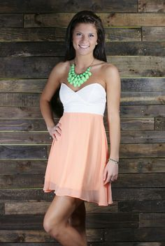 Show off your charming personality in the Dashing Darling Dress. $42.99 #Apricot #Mint #Dress