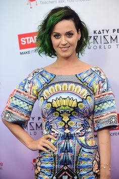 It's Time To Dye Your Hair Green #refinery29  http://www.refinery29.com/2014/10/76718/green-hair-celebrities#slide3  Rocking mossy green hair and dark roots, Katy Perry helps us remember why green hair really is so awesome. There's something beguiling about a babe rocking swamp-thing hair with confidence. If you're interested in this swampy 'do, muted greens work great with cool skin tones.