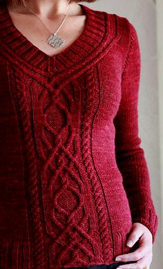 Cabeladabra pattern by Hanna Maciejewska on Ravelry.  Love how the cables go up around the neckline.