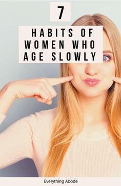 Natural Hair Growth, Natural Hair Styles, Love Tips, Aging Process, 7 Habits, Women Life, Healthy Tips, Glowing Skin, Natural Remedies