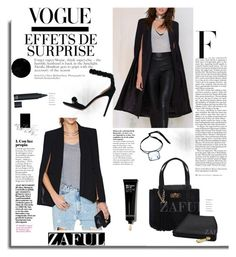 """""""Zaful.com: Effets de Surprise-->Cape"""" by hamaly ❤ liked on Polyvore featuring Rosie Assoulin, Nicki Minaj, Alaïa, Bobbi Brown Cosmetics, women's clothing, women's fashion, women, female, woman and misses"""