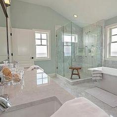 Spa Like Coastal Bathroom                                                                                                                                                     More