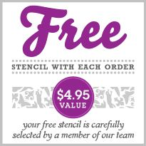 Get a FREE Cutting Edge Stencil (value $4.95) with every purchase! http://www.cuttingedgestencils.com/wall-stencils-stencil-designs.html