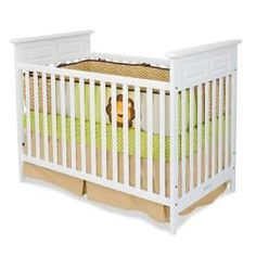 Logan Traditional Matte White Stationary Crib $185 on overstock