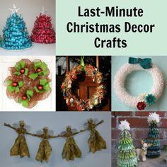last minute christmas decor crafts