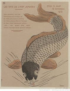 Invitation for the November 10, 1910 Meeting by Kitao (Keisai) Masayoshi Carved and printed by Prosper-Alphonse Isaac Courtesy of the Bibliothèque Nationale de France (color woodblock print)