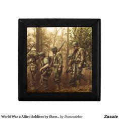 World War 2 Allied Soldiers by Shawna Mac Keepsake Boxes