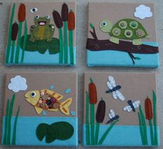 wall art for felt animals - Google Search