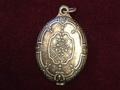 Chatelaine Mirror slide locket