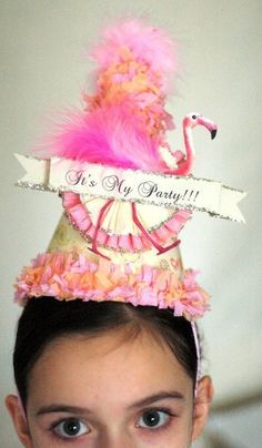 Fabulous Flamingo Party Hat by JoosyPartyCompany on Etsy