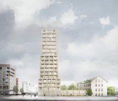 Tham & Videgård . Kv Hamnen 8 housing tower . Sundbyberg (1)