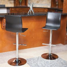 A stunning harmony of engineering and design, this popular stool is offered in black, white, cappuccino, cream and brown, so you can pair it with wood, marble, glass, metal or any finish in your home. With advanced maneuverability, powered by a hydraulic lift, the full swivel seat aligns with counters, bars and tables of varying heights.