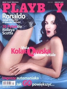 Playboy (Poland) April 2001  with Viola Kołakowska on the cover of the magagazine