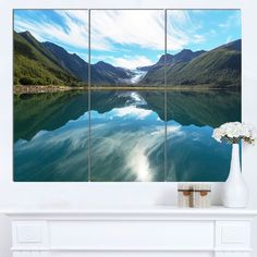 Designart 'Svartisen Glacier in Norway' Landscape Art Print Canvas