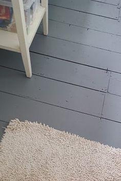 Grey painted floorboards - love!!!!