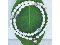 Wrap náramek s perlami, Růženínem & Křišťálem - Ayana Summer Bracelets, Linux, Beaded Necklace, Green, Jewelry, Beaded Collar, Jewlery, Pearl Necklace, Jewerly