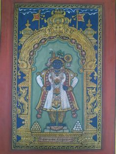 Mysore Painting, Tanjore Painting, Temple India, Buddhist Art, Traditional Paintings, Indian Art, Folk Art, Art Drawings, Indian Artwork