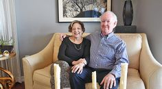 Mary-Beth and Bruce Phillips in their Home of the Week in Eastport.