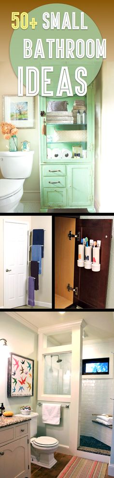 50 Small Bathroom Ideas That You Can Use To Maximize The Available Storage Space – If you have a small bathroom, then you certainly know just how difficult it is to make the best of it difficult, but not impossible. Here you will find 50 small bat Cute Diy Projects, Home Projects, Bathroom Organization, Bathroom Storage, Towel Storage, Organization Ideas, Bathroom Renos, Bathroom Ideas, Bathroom Small