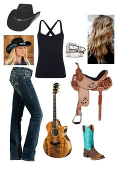 A fashion look from February 2016 featuring Rock Revival, wicking shirts and cowboy boots. Browse and shop related looks. Cowgirl Style Outfits, Western Outfits Women, Country Style Outfits, Southern Outfits, Rodeo Outfits, Country Fashion, Farm Outfits, Cowgirl Fashion, Teen Fashion Outfits