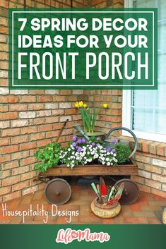 After a cold winter, one of the reasons I look forward to welcoming spring is the front porch. Let us help you plan a blossoming and colorful display that will cheer up any visitor that's coming out of hibernation with these Spring Porch Decor ideas.