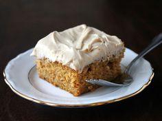Gojee - Pumpkin Sheet Cake with Brown Sugar Cream Cheese Frosting  by Kitchen Trial & Error