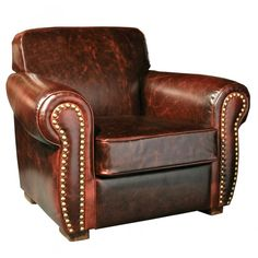 Winston Leather Cigar Chair