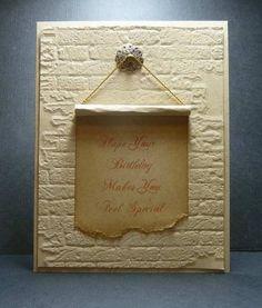 brick embossing folder...love this