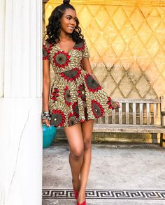 kitenge designs Ankara Short Gown Styles For Pretty Ladies 2019 is an awesome style that is being ladies in the house, especially the slim ones. African Wear Dresses, African Fashion Ankara, Latest African Fashion Dresses, African Print Fashion, African Attire, African Clothes, African Style, African Hair, Ankara Short Gown Styles