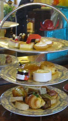 Tea at the Empress Hotel, Victoria, BC, Canada-- a lovely day, still have the trivet tea was set on