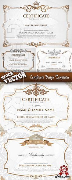 Stock Vector - Certificate Design Templates