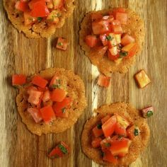 Parmesan Crisps with Heirloom Tomato Salad | My Daily Morsel